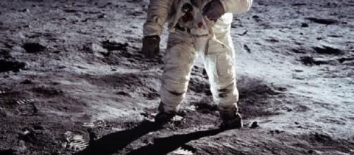 Buzz Aldrin on the moon (Courtesy NASA)