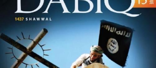Immagine agghiacciante comparsa ieri sulla copertina della rivista Dabiq.