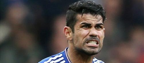 Diego Costa e tutta la sua grinta, durante una gara di Premier League