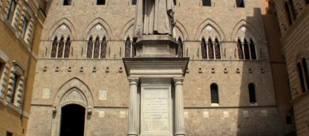 La sede storica senese della Monte Paschi Siena