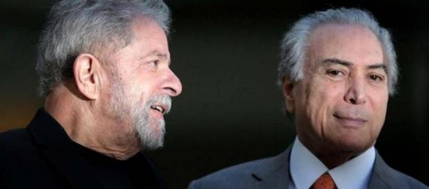 Lula e Michel Temer - Foto/Reprodução