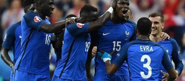 But de Pogba lors du match France-Islande le 03 juillet