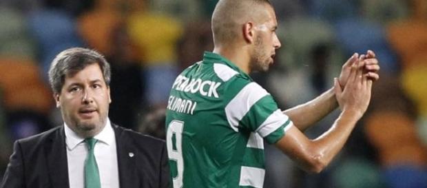Slimani está descontente com Bruno de Carvalho
