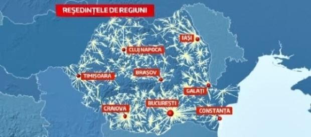 Acestea ar urma să fie reședințele noilor regiuni din România