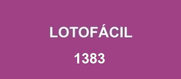 Divulgado o resultado da Ltofácil 1383, nessa segunda-feira