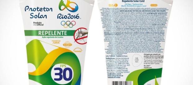 Repelente oficial dos Jogos Rio 2016