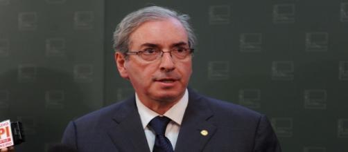 Deputado Eduardo Cunha durante discurso
