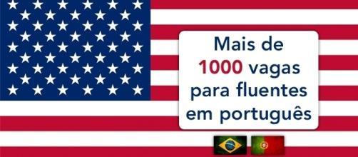 Estados Unidos tem mais de 1000 vagas para quem fala português