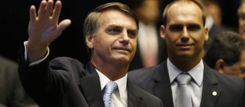 Jair Bolsonaro se divertiu com o público na Barra da Tijuca