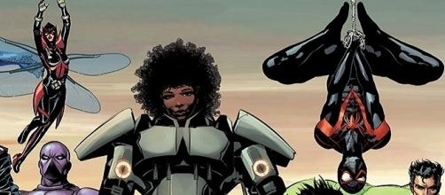 """Riri Williams in the Marvel NOW! """"Divided We Stand"""" teaser / illustrated by Mike Deodato, Marvel.com"""