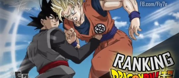 Dragon Ball Super: Black golpeando a Goku