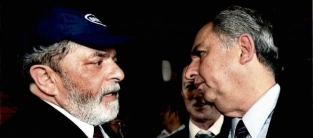 O ex-presidente Lula e seu amigo pecuarista José Carlos Bumlai