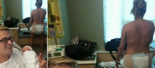 Foto después del parto de una madre australiana