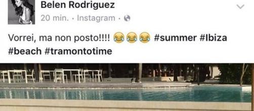 Il post di Belen Rodriguez e la risposta di Fedez