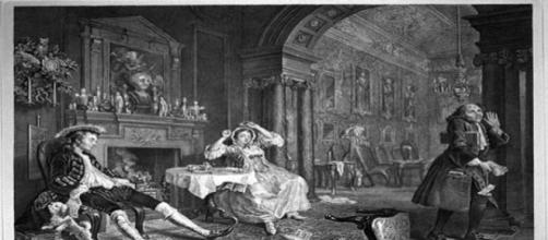 """""""Marriage a la Mode"""" by William Hogarth Creative Commons"""