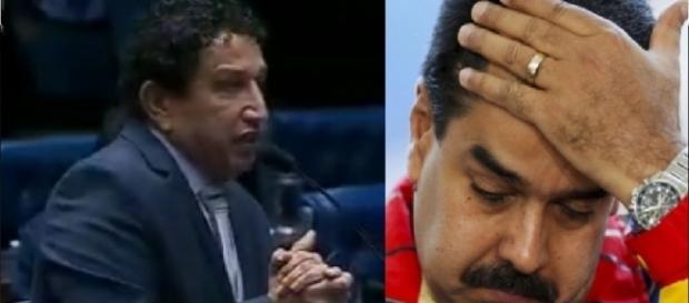 Magno Malta e presidente da Venezuela