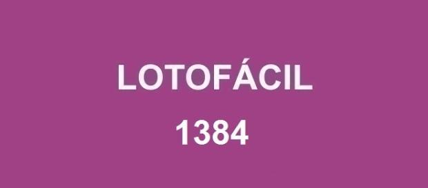 Resultado da Lotofácil 1384 divulgado pela Caixa nessa quarta-feira