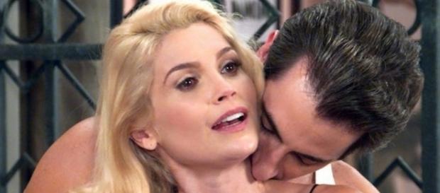 Sandra seduz Araújo em Êta Mundo Bom