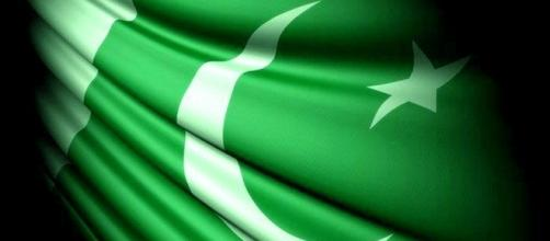 A close up of the flag of Pakistan