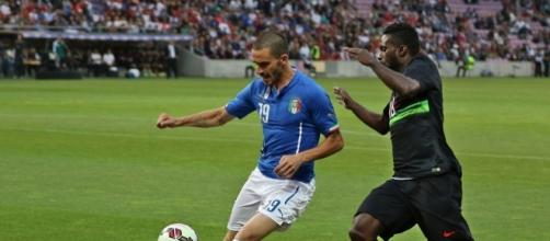 Calciomercato Juventus: Bonucci con la maglia della Nazionale