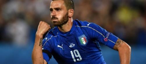 Leonardo Bonucci (29 anni), con la maglia della nazionale.