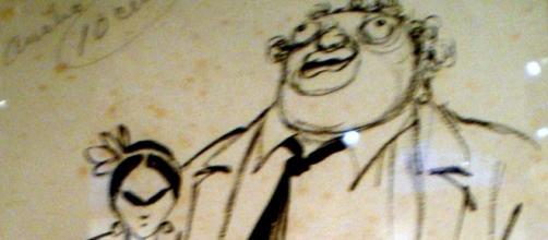 """""""Chango"""" Cabral. Diego Rivera y señora. """"Fantoche"""", 1929"""