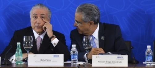 Temer e o presidente da CNI, Robson Braga