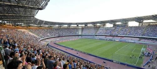 Lo stadio San Paolo stasera palcoscenico di Napoli - Nizza.