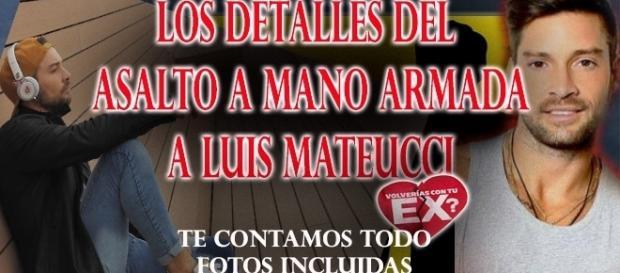Asalto a Luis Mateucci a mano armada