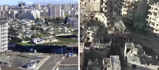 Tomas de la Ciudad de Homs: antes y despues de la Guerra