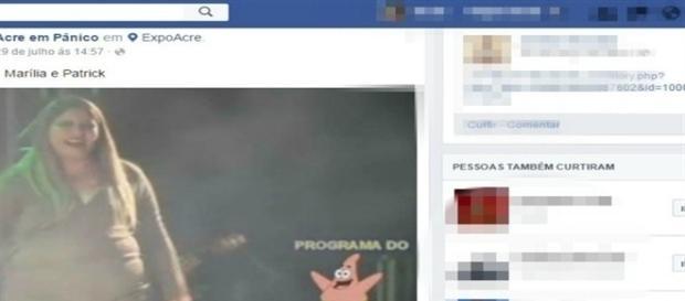 Uma página na rede social resolveu fazer uma brincadeirinha sem graça.