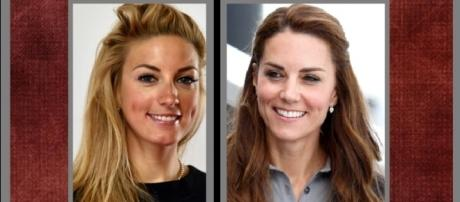 Kate Middleton look alike found at Rio Olympics: YouTube screen shots (L) Max Mumby (R) Eric Feferburg both Getty Images