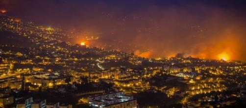 El fuego, a las puertas de Funchal