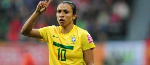 Marta é a camisa 10 da seleção de futebol feminino