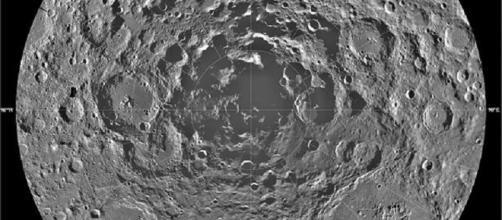 The lunar south pole (Credit NASA)