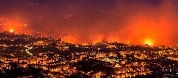 Ilha da Madeira está invadida por um mar de chamas