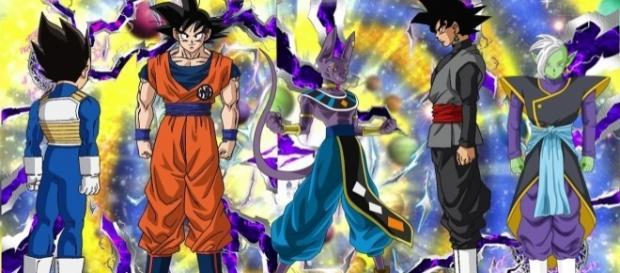 Imagen con alguno de los personajes presumiblemente mas fuertes de la serie