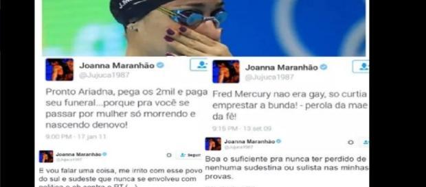 Joanna Maranhão polemiza na internet