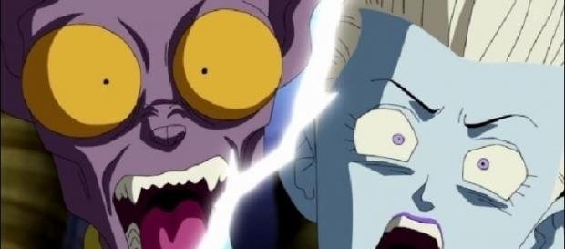 Beerus and Whis during the episode 54 (YouTube)