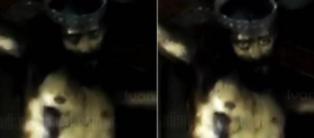 Estátua de Jesus Cristo abre os olhos em vídeo