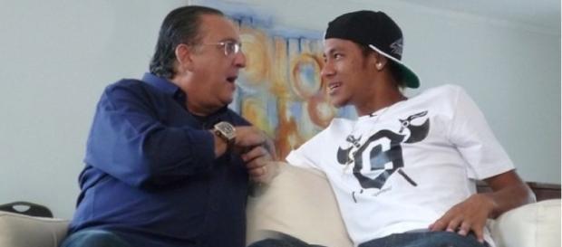 Neymar ficou chateado com as críticas de Galvão Bueno