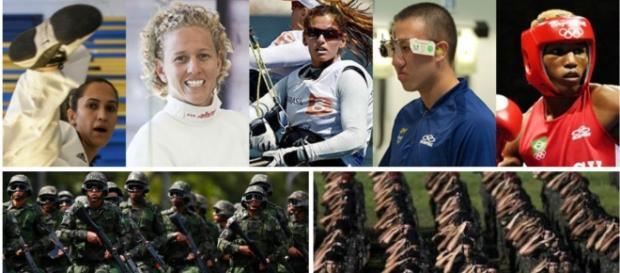 Atletas brasileiros são das Forças Armadas