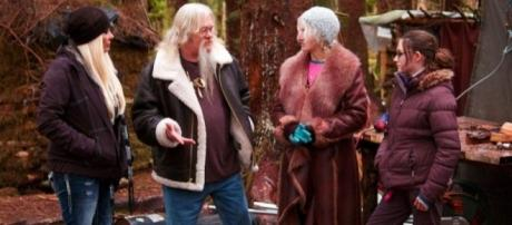 'Alaskan Bush People' with Billy's daughter Twila during her visit to Browntown. Photo: Discovery Channel promo