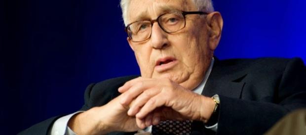 Henry Kissinger, en una foto de hace poco tiempo (tiene actualmente 93 años).