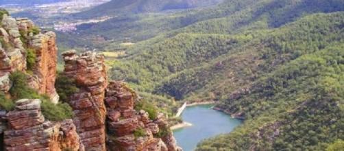 El tupido manto de pinos que cubre las montañas es onmipresente en el parque natural