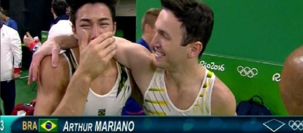 Arthur e Diego levam medalhas para o Brasil