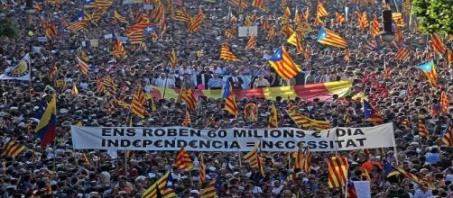 Manifestación independentista. Public Domain