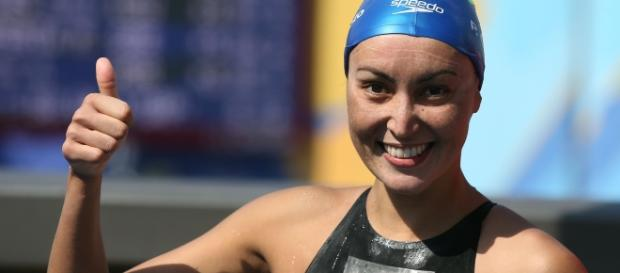 Poliana Okimoto herdou o bronze na maratona aquática