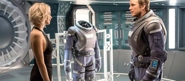 Jennifer Lawrence y Chris Pratt en 'Passengers'