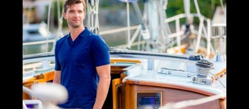 Actor Lucas Bryant on set of 'Summer Love'. Courtesy of Ryan Plummer, used with permission